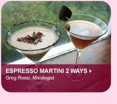 Espresso Martini 2 Ways